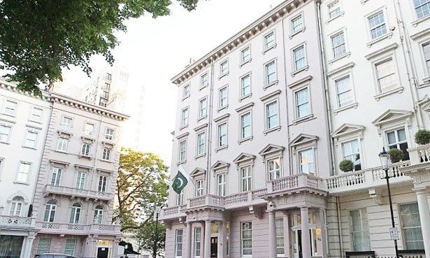 A file photo of the Pakistan High Commission in London. — Twitter/File