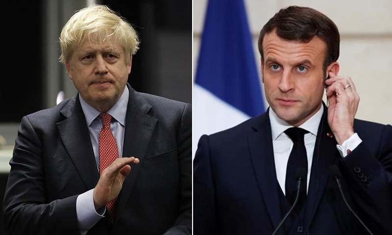 A combination photo of British Prime Minister Boris Johnson (L) and French President Emmanuel Macron (R). — AP/Reuters