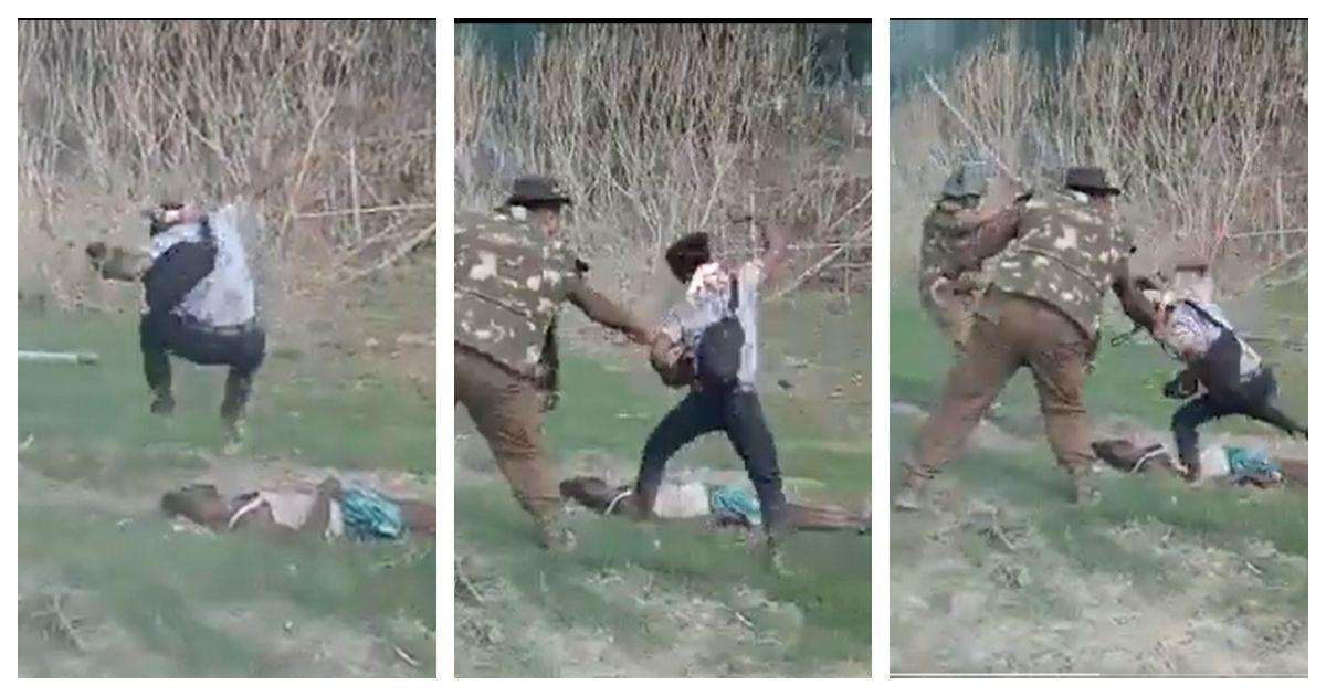 Screengrabs of the video of the eviction drive. —@ahmermkhan via Twitter