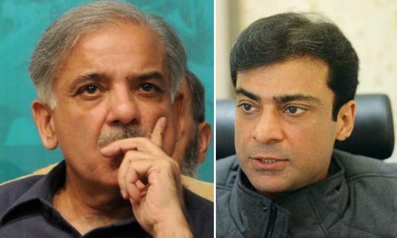 A combination photo of PML-N leaders Shehbaz Sharif (L) and Hamza Shehbaz (R). — AFP/File