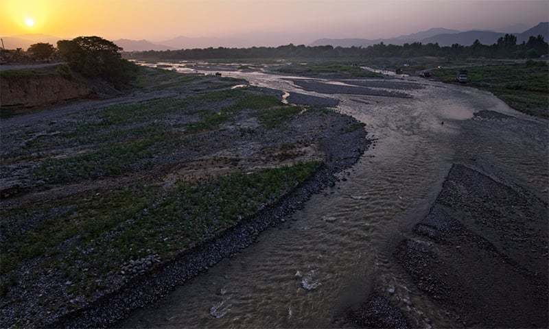 The file photo shows a minor tributary of the Indus River. — File photo by Kohi Marri/File