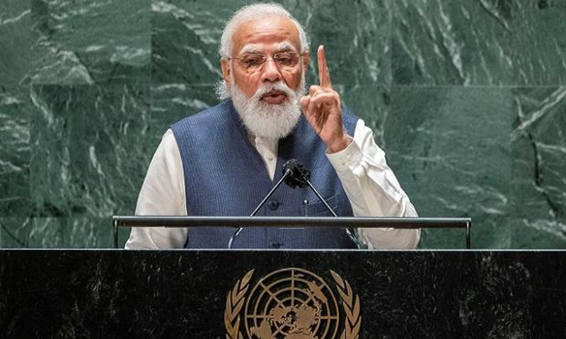 Indian Prime Minister Narendra Modi addresses the 76th Session of the UN General Assembly in New York City, US, September 25. — Reuters