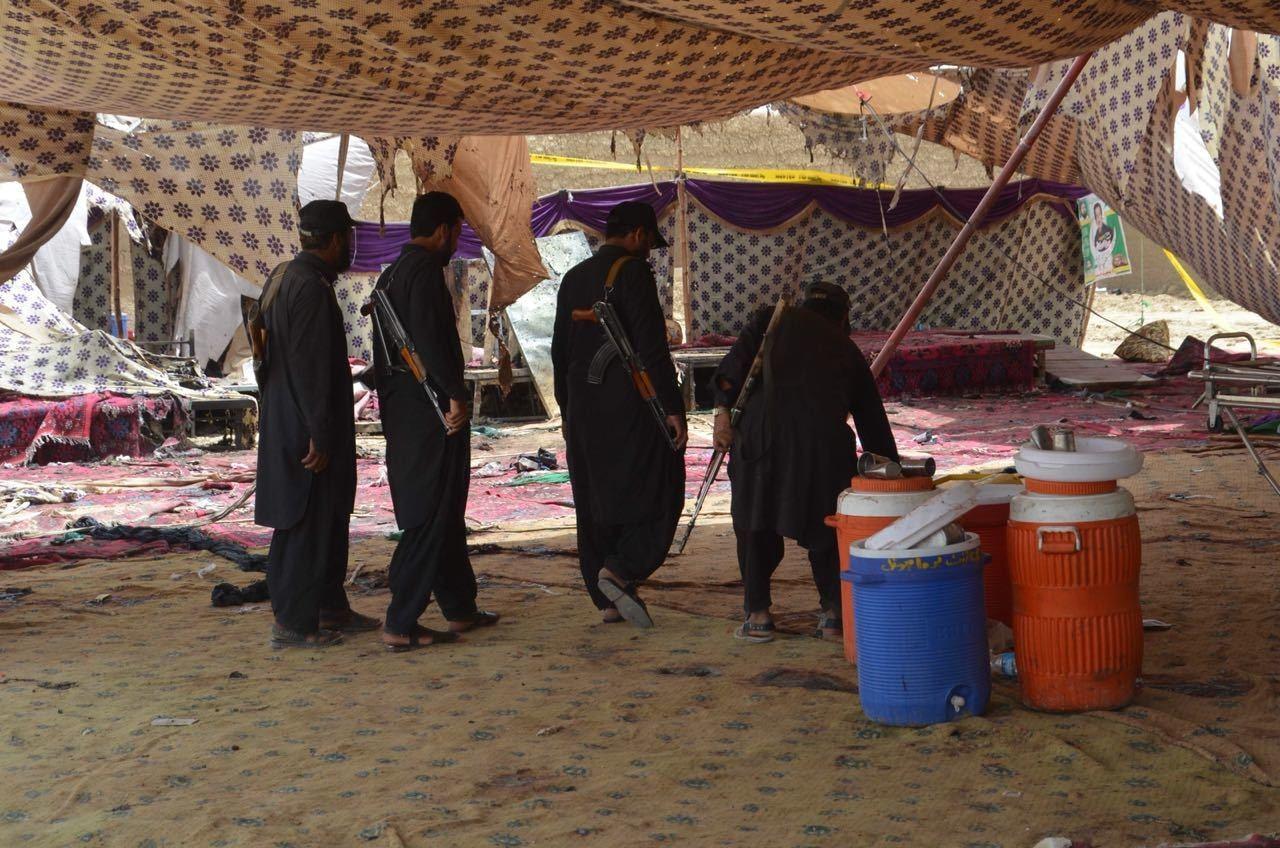 2018 کے مستونگ دھماکے میں 128 افراد ہلاک ہوگئے تھے — فائل فوٹو:حفیظ اللہ شیرانی