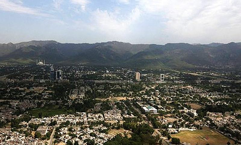 This June 1, 2011 photo shows an aerial view of Islamabad. — Reuters/File