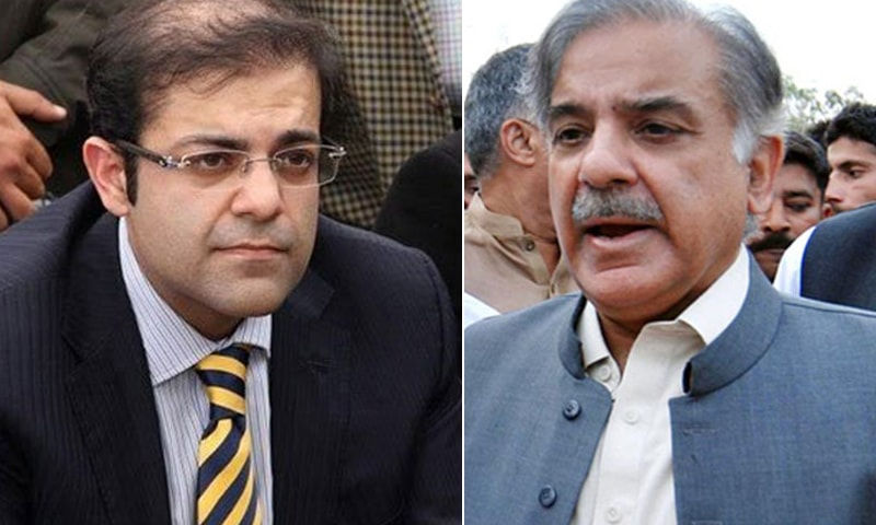 A combination photo of PML-N President Shehbaz Sharif (R) and his son, Suleman Shehbaz (L). — AFP/APP