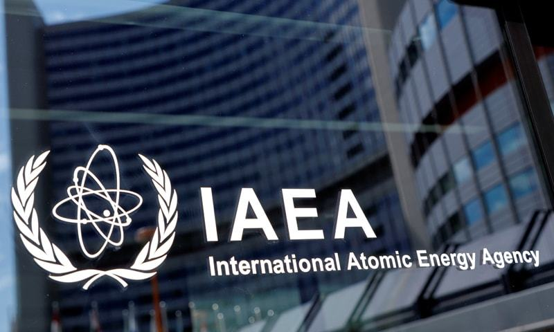 The logo of the International Atomic Energy Agency is seen at their headquarters. — Reuters/File