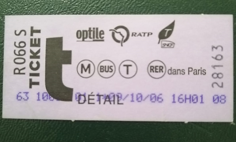 بس کا ٹکٹ