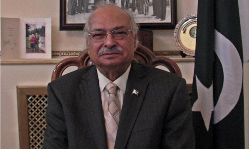 Former Pakistan high commissioner to the United Kingdom Wajid Shamsul Hasan. — Photo courtesy: Twitter