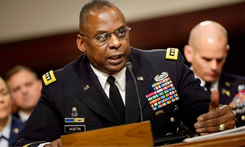 This file photo shows US Defence Secretary Lloyd Austin. — AFP/File