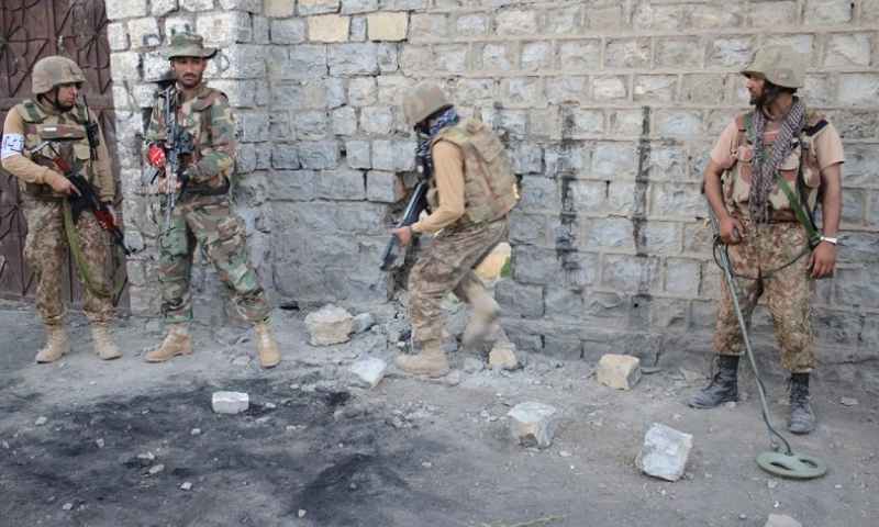 Security forces carry out a search operation in this file photo. — Photo courtesy: ISPR