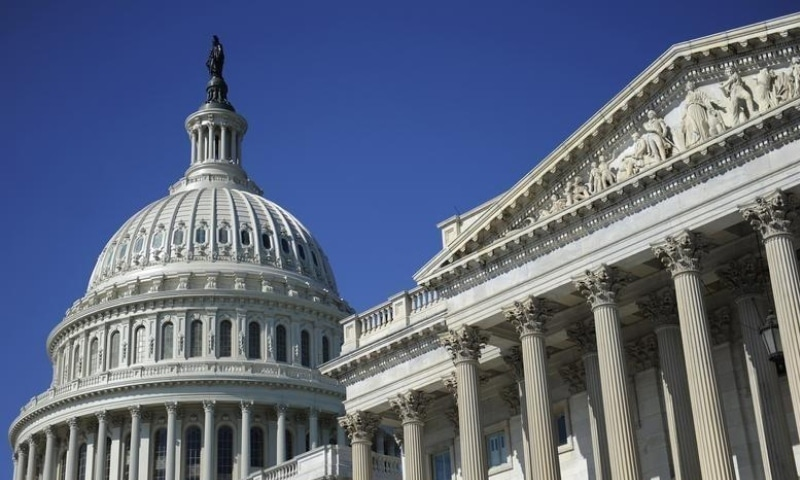 This photo shows the US Capitol dome and US Senate (R) in Washington on August 2. — Reuters