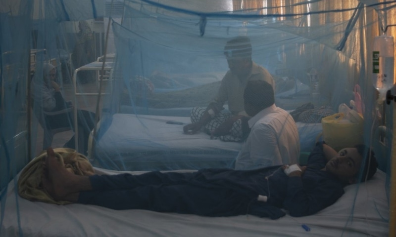 In this 2019 photo, patients suffering from dengue fever are treated in an isolation ward at a hospital in Rawalpindi. — AP/File