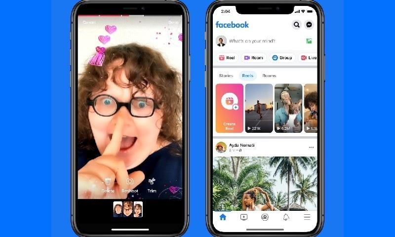 فیس بک میں مختصر ویڈیوز کے فیچر ریلز کا اضافہ