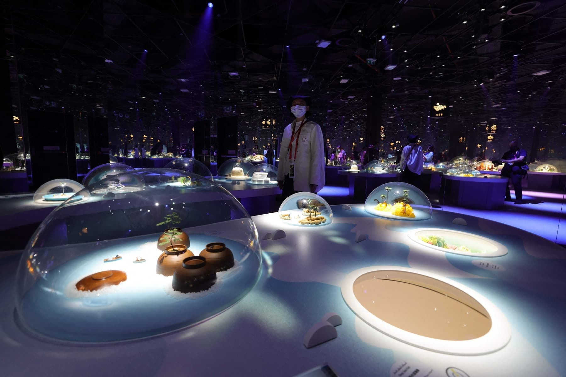 This picture shows the interior of the Japanese pavilion at the Expo 2020. — AFP