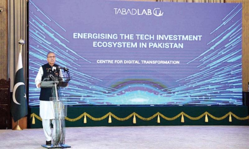 President Dr Arif Alvi speaks at the ceremony in Islamabad on Friday. — APP