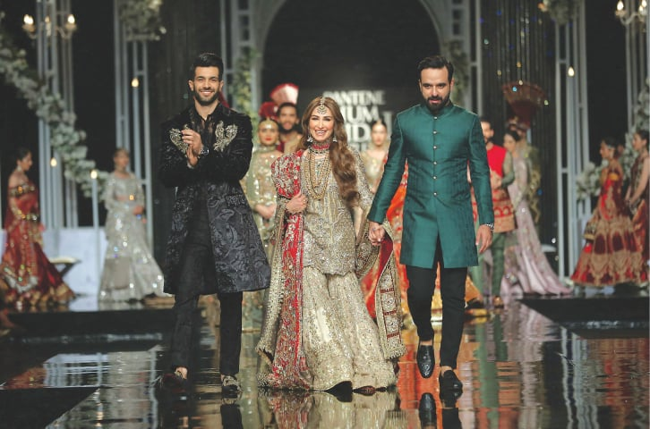 The MNR show at Hum Bridal Couture Week 2018 with filmstar Reema as showstopper