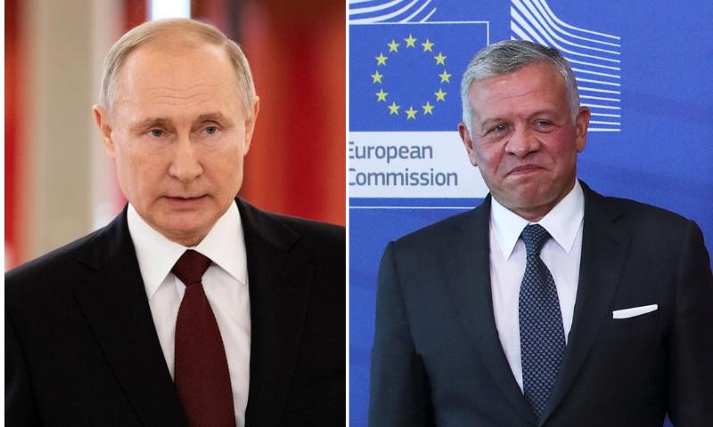 This combination file photo shows Russian President Vladimir Putin (L) and Jordan's King Abdullah (R). — Reuters