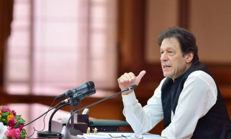 Prime Minister Imran Khan made the decision for form a high-powered cell at a meeting of his spokespersons, during which a threadbare discussion on the Pandora Leaks took place. — APP/File