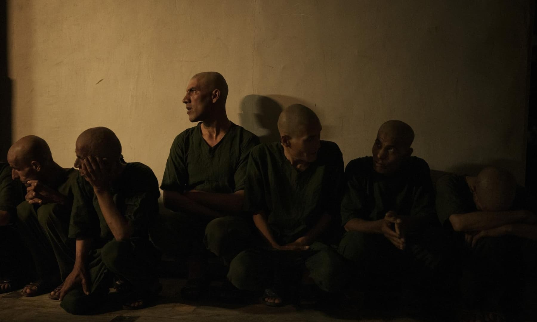 Drug users detained during a Taliban raid wait for a medical check in the detoxification ward of the Avicenna Medical Hospital for Drug Treatment in Kabul, Afghanistan, October 2, 2021. — AP