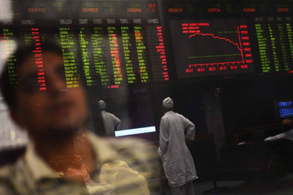 This file photo shows traders at the Pakistan Stock Exchange. — AFP/File