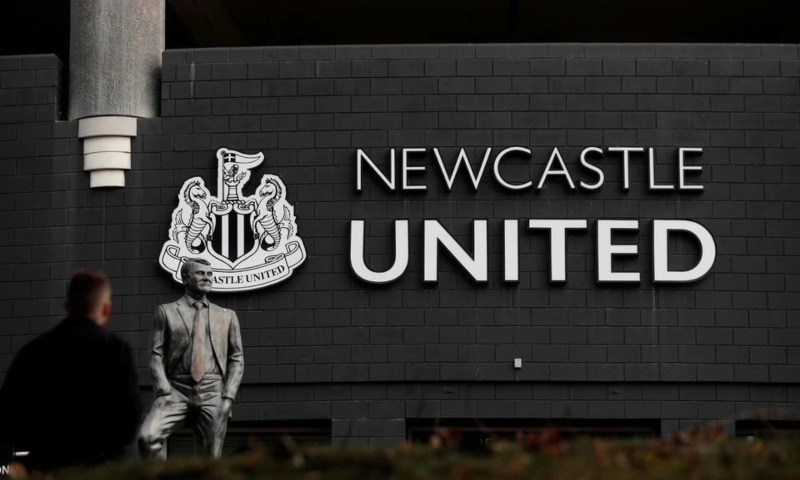 General view of the Bobby Robson Statue outside Newcastle United's St James' Park stadium, Newcastle, Britain, October 7. — Reuters