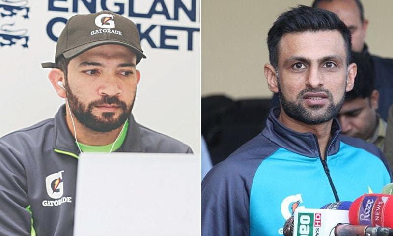A combination photo of batter Sohaib Maqsood (L) and all-rounder Shoaib Malik (R). — Photo courtesy PCB/File