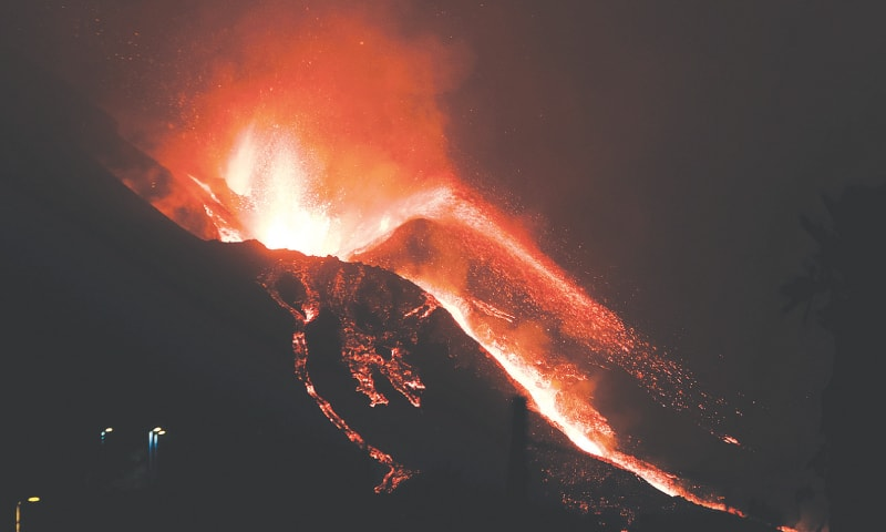 THE volcano continues to spew out lava on the Canary island of La Palma, Spain.—AP