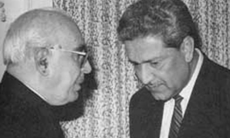 DR ABDUL Qadeer Khan along with former president Ghulam Ishaq Khan. — File