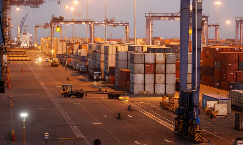 This file photo shows a general view of a container terminal at Mundra Port, one of the ports handled by India's Adani Ports and Special Economic Zone Ltd, in the western Indian state of Gujarat. — Reuters/File