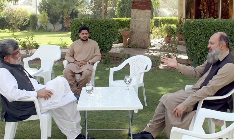 وزیراعلیٰ بلوچستان نے پی ٹی آئی کے صوبائی صدر سے ملاقات کی—فوٹو: غالب نہاد