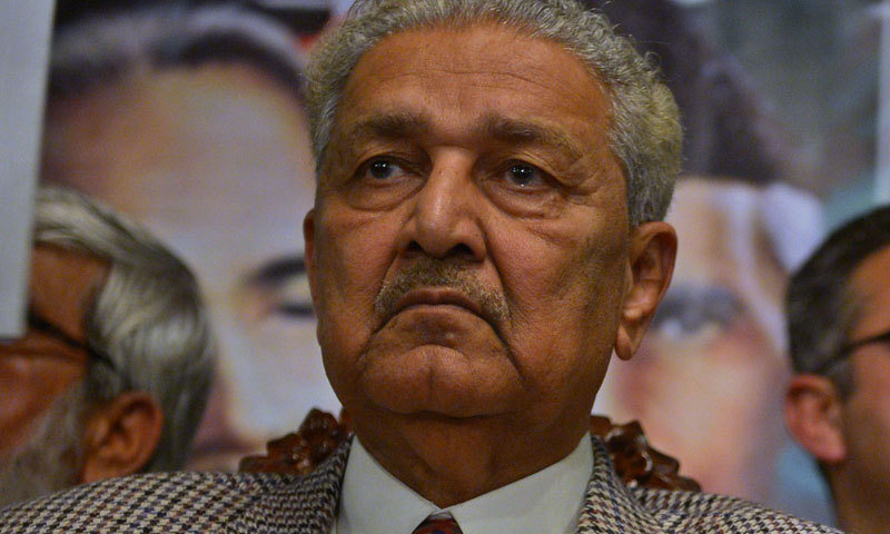This file photo shows ate scientist Dr Abdul Qadeer Khan. — AFP/File