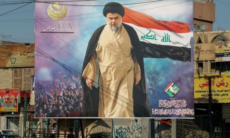 A poster of Iraqi Shia cleric Moqtada al-Sadr in the Sadr City district of Baghdad, Iraq, June 21. — Reuters/File