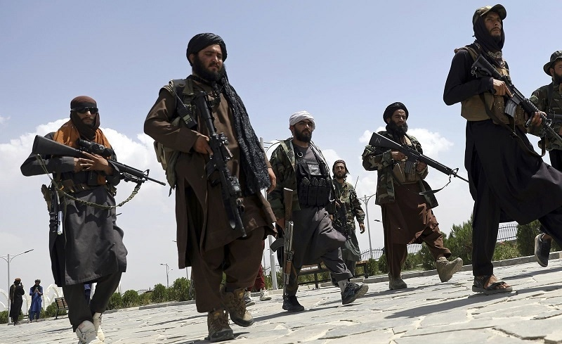 Taliban fighters patrol in Kabul on Aug 19, 2021. — Reuters/File