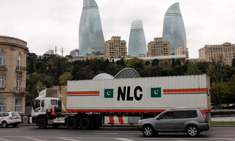 ٹی آئی آر کے تحت پاکستان کا پہلا این ایل سی کارگو استنبول اور باکو پہنچ گیا