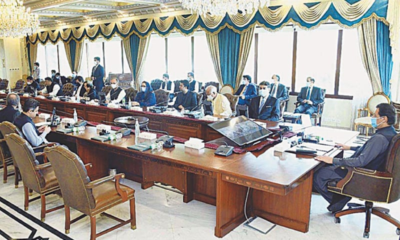 ISLAMABAD: Prime Minister Imran Khan chairing a meeting of the federal cabinet.—APP