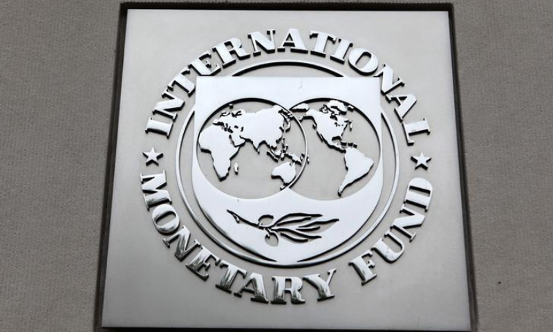 The International Monetary Fund (IMF) logo is seen at the IMF headquarters building in Washington. — Reuters/File