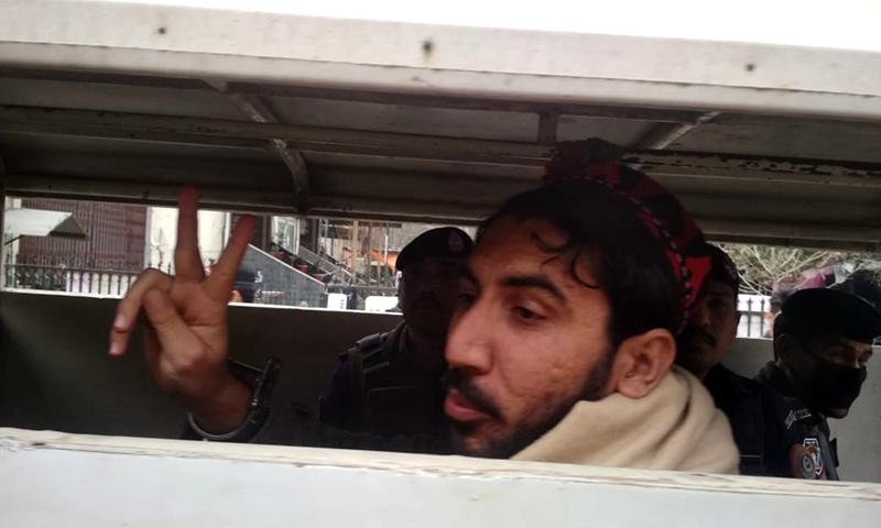 This file photo shows Pashtun Tahaffuz Movement (PTM) chief Manzoor Pashteen. — Photo by Sirajuddin/File