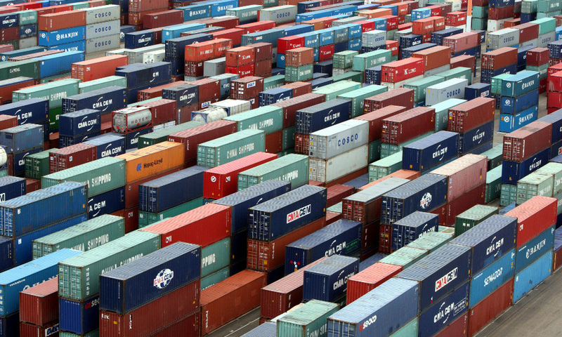 A file photo of shipping containers. — AFP/File