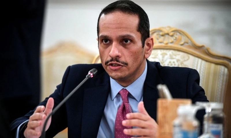 Qatari Foreign Minister Sheikh Mohammed bin Abdulrahman Al-Thani attends talks with Russian Foreign Minister Sergei Lavrov (not seen) in Moscow, Russia, September 11. — Reuters/File