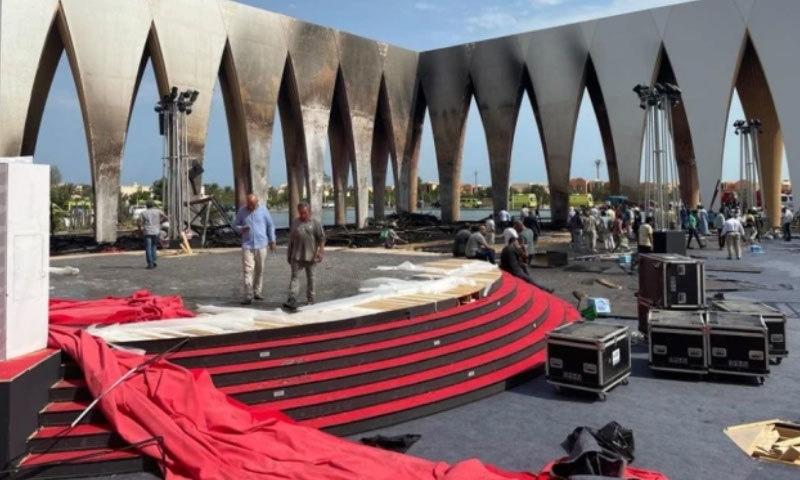 مصر: فلم فیسٹیول ہال میں لگی آگ پر قابو پالیا گیا