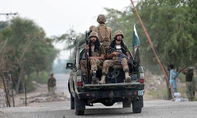 آئی ایس پی آر کے مطابق سیکیورٹی فورسز اور دہشت گردوں کے مابین فائرنگ کا تبادلہ ہوا—فائل فوٹو:اے ایف پی