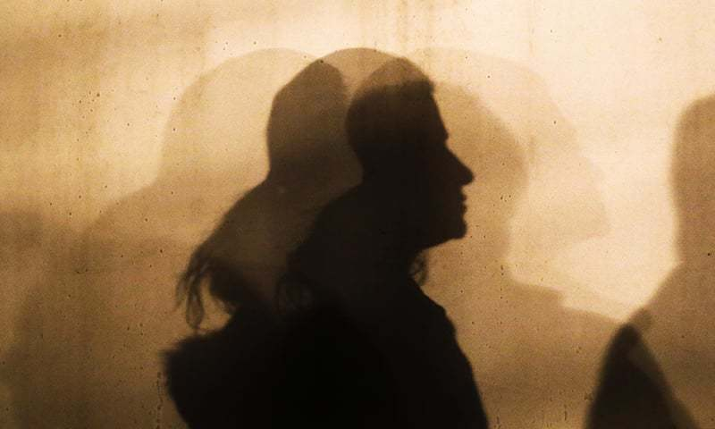 This file photo shows the silhouette of a woman. — AP/File