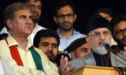 PTI, PAT leaders on same platform