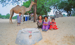In Thar: 'But not a drop to drink ...'
