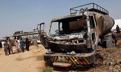 Fatal crash between bus, oil tanker leaves 62 dead near Karachi