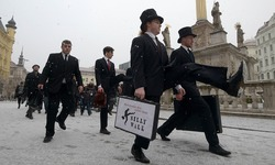 Czech silly walkers pay tribute to Monty Python