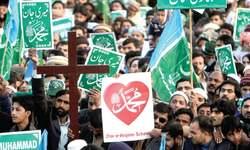 Rallies held against blasphemous cartoons