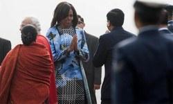 مشیل اوباما کو سونے چاندی سے بنی ساڑھیوں کا تحفہ
