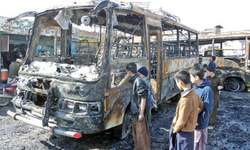 Six vehicles damaged in petrol pump fire