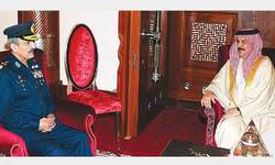 PAF chief calls on Bahrain's king